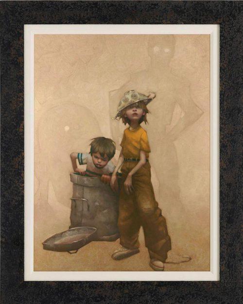 Don't-Put-The-BEEP-Lid-On-framed-canvas-by-Craig-Davison